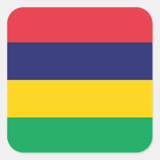 Mauritius Square Sticker