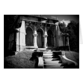 Mausoleum on a hill card