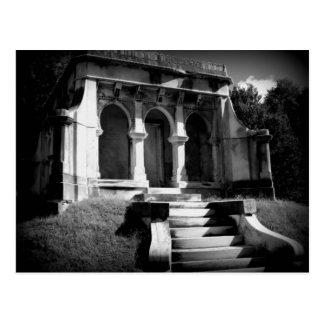 Mausoleum on a hill postcard