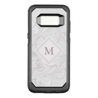Mauve and White Marble look with Diamond Monogram OtterBox Commuter Samsung Galaxy S8 Case