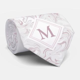 Mauve and White Marble look with Diamond Monogram Tie