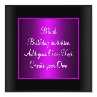Mauve Birthday Invitation