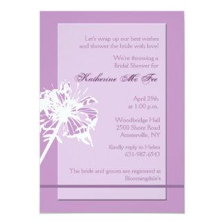 Mauve Bridal Shower Invitation