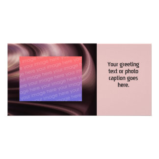 Mauve Brown Swirl Abstract Personalized Photo Card