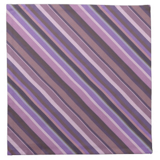 Mauve diagonal stripes napkin