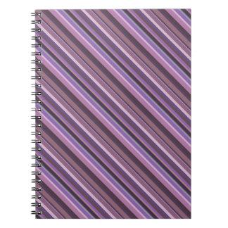 Mauve diagonal stripes notebooks
