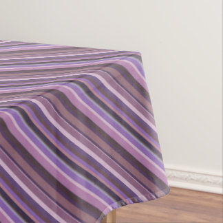 Mauve diagonal stripes tablecloth