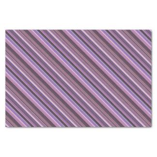 Mauve diagonal stripes tissue paper