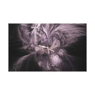 Mauve Feather Fractal Canvas Print