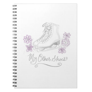 Mauve Figure Skate Custom Gift for Figure Skater Notebooks