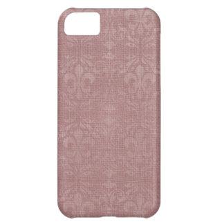 Mauve Fleur De Lis Damask iPhone 5C Cases