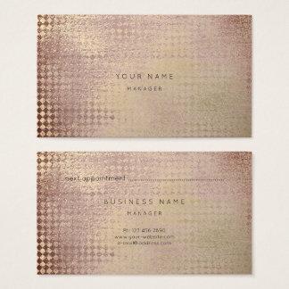 Mauve Gold Blush Diamond Cut Appointment Card