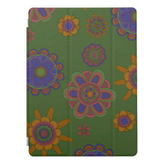"Mauve & Gold Flowers 12.9"" iPad Pro Cover"