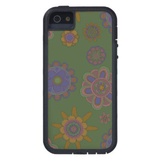 Mauve & Gold Flowers Case For iPhone 5