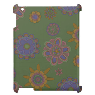 Mauve & Gold Flowers Case For The iPad 2 3 4
