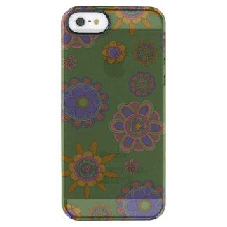Mauve & Gold Flowers Clear iPhone SE/5/5s Case