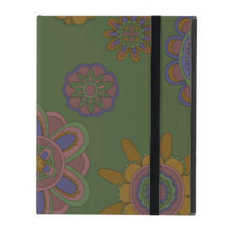 Mauve & Gold Flowers Covers For iPad