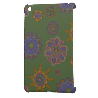 Mauve & Gold Flowers iPad Mini Case