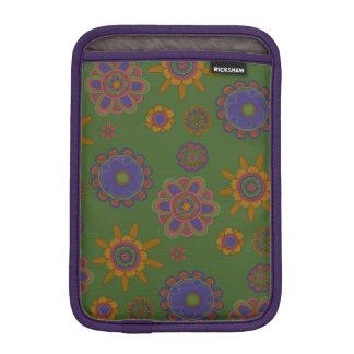 Mauve & Gold Flowers iPad Mini Sleeve