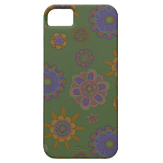 Mauve & Gold Flowers iPhone 5 Cases