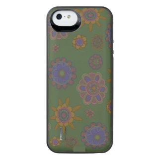 Mauve & Gold Flowers iPhone SE/5/5s Battery Case