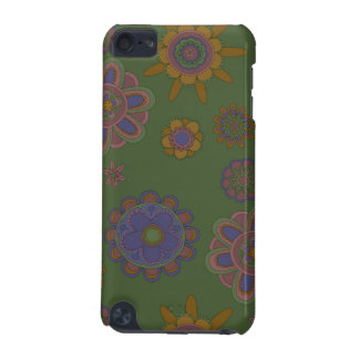 Mauve & Gold Flowers iPod Touch 5G Cover