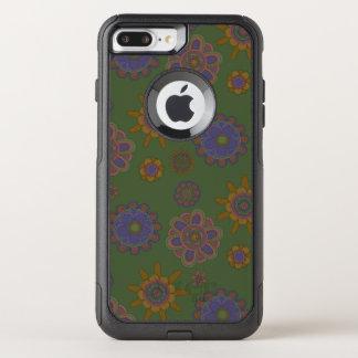Mauve & Gold Flowers OtterBox Commuter iPhone 7 Plus Case