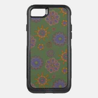 Mauve & Gold Flowers OtterBox Commuter iPhone 8/7 Case