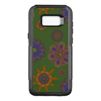 Mauve & Gold Flowers OtterBox Commuter Samsung Galaxy S8+ Case