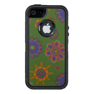 Mauve & Gold Flowers OtterBox Defender iPhone Case
