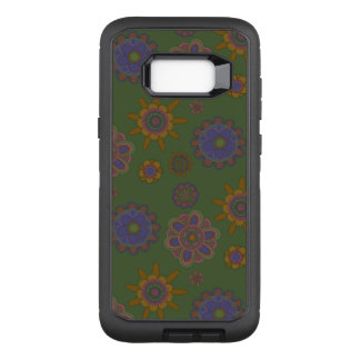 Mauve & Gold Flowers OtterBox Defender Samsung Galaxy S8+ Case