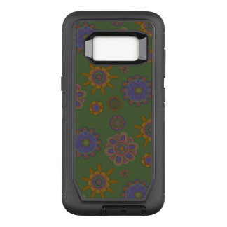 Mauve & Gold Flowers OtterBox Defender Samsung Galaxy S8 Case