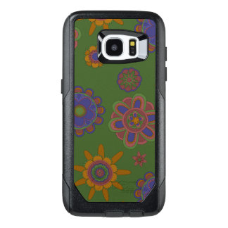 Mauve & Gold Flowers OtterBox Samsung Galaxy S7 Edge Case