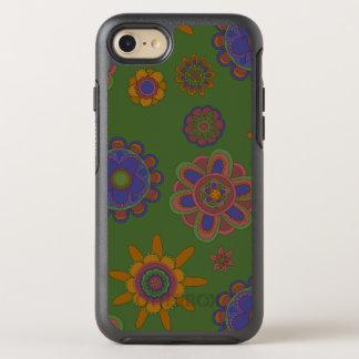 Mauve & Gold Flowers OtterBox Symmetry iPhone 7 Case