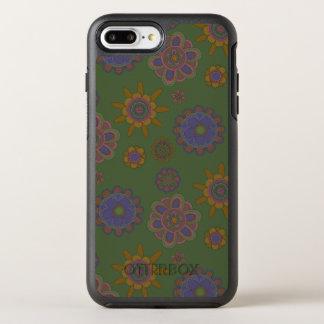 Mauve & Gold Flowers OtterBox Symmetry iPhone 7 Plus Case