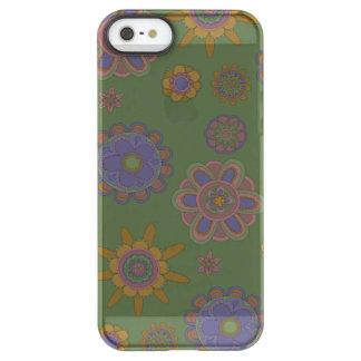Mauve & Gold Flowers Permafrost® iPhone SE/5/5s Case