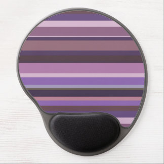 Mauve horizontal stripes gel mouse pad