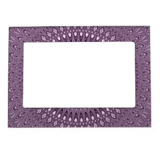 Mauve mandala magnetic picture frame