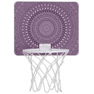 Mauve mandala mini basketball hoop