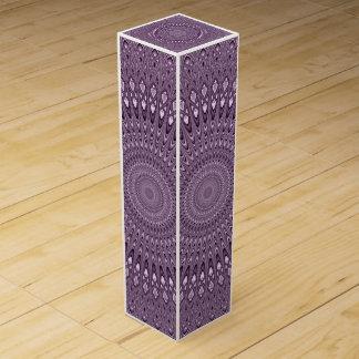 Mauve mandala wine gift box