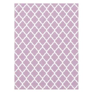 Mauve Mist Moroccan Tile Trellis Tablecloth