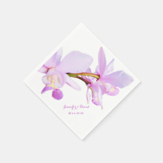 Mauve Orchids Paper Napkins Disposable Serviette