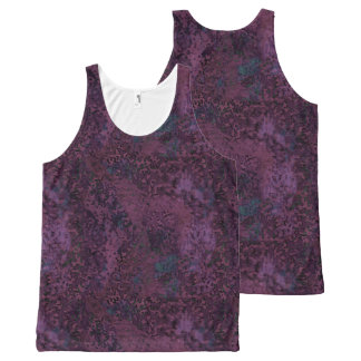 Mauve Painterly Abstract All Over T-Shirt All-Over Print Tank Top