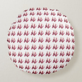 Mauve-Pink-Iris_Floral-Print_Stylish-Accent_Pillow Round Cushion