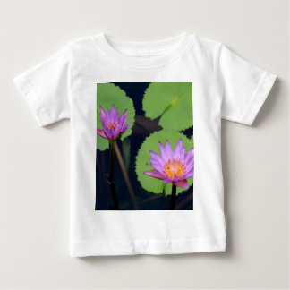 Mauve pink water lilies baby T-Shirt