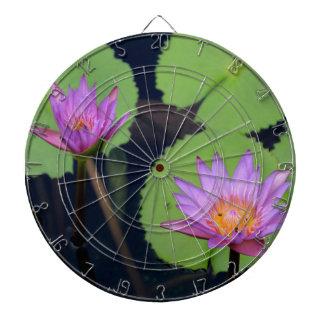 Mauve pink water lilies dartboard