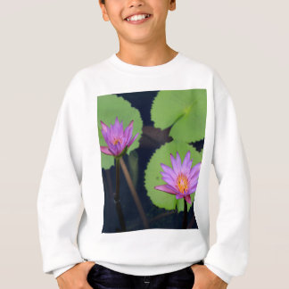 Mauve pink water lilies sweatshirt