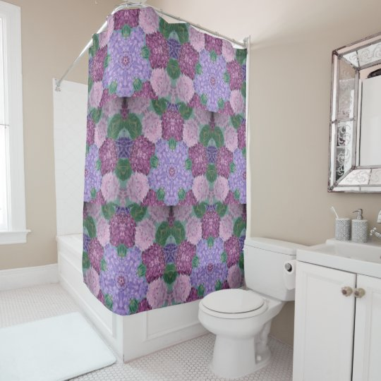 Mauve Purple And Pink Hydrangea Shower Curtain