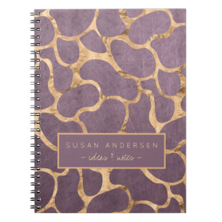 Mauve rose gold sophisticated wallpaper pattern spiral notebook