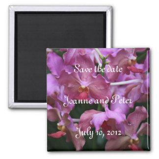 Mauve Singapore Orchid Magnet